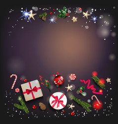 holiday dark template vector image
