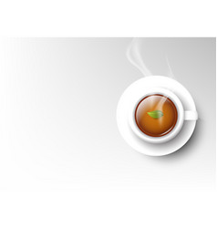 isolated cup of coffee collection hot tea vector image
