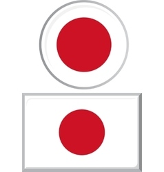 Japanese round and square icon flag vector image
