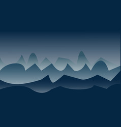 Landscape with mountains and clouds vector