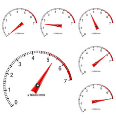 manometer scales vector image