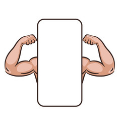 muscle male arms mobile app banner template vector image