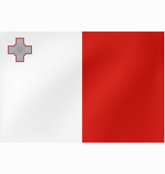national flag malta for sports competition vector image