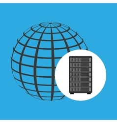 network server concept globe world vector image