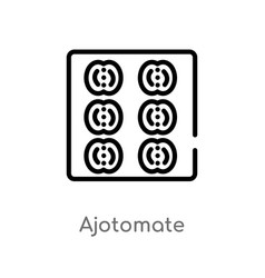 outline ajotomate icon isolated black simple line vector image