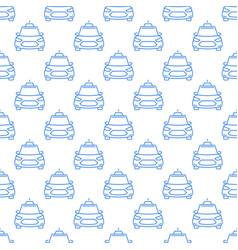 Outline taxi car concept seamless pattern vector