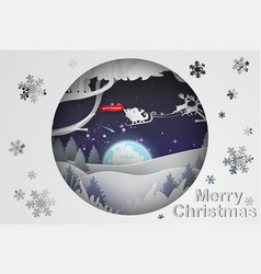 paper art of christmas background vector image