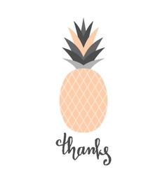 Peach Pink Pineapple Design vector image