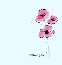 pink water color beautiful flower vector image