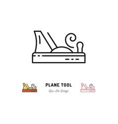 plane tool icons carpentry logo thin line vector image