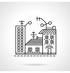 Residential ares line icon vector image