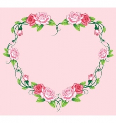 roses border vector image vector image