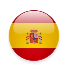 Round icon with flag of Spain vector image