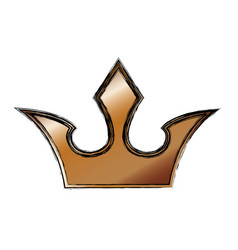 royalty crown symbol vector image