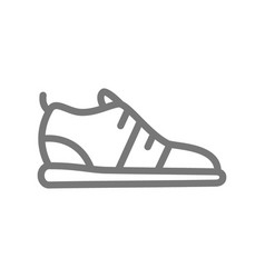 running shoes and sneakers line icon vector image