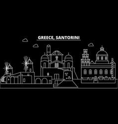 Santorini silhouette skyline greece - santorini vector