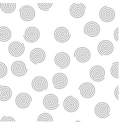 seamless pattern of random spirals abstract vector image