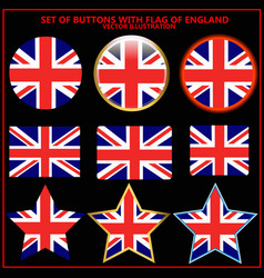 set of banners with flag of england vector image