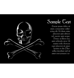 skull with cross vector image