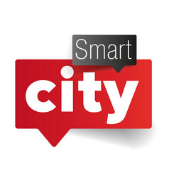 Smart city speech bubble vector