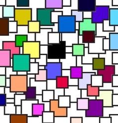 Square black ground vector