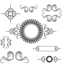Swirl ornament vector