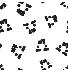 talk people icon seamless pattern background vector image