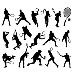 tennis player 3 vector image
