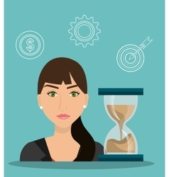 Time managament and business vector image