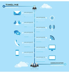 Timeline Communication Business Infographic vector
