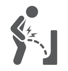 Urine pain glyph icon body and painful bladder vector