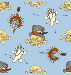 Voodoo seamless pattern vector
