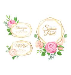 wedding decorations marriage invitation elements vector image