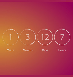 years counter timer vector image