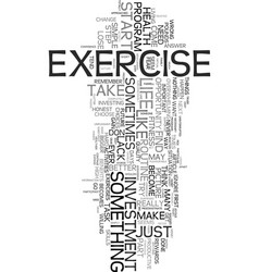 Your biggest investment exercise text word cloud vector
