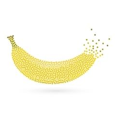 Abstract creative concept icon of banana vector image vector image
