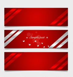 Card note with ribbons vector image