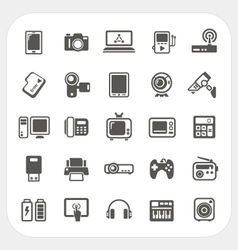 Electronic Device icons set vector image vector image