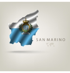 Flag of SAN MARINO as a country with a shadow vector image