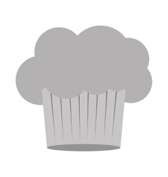 Gray scale silhouette of chefs hat in shape cloud vector