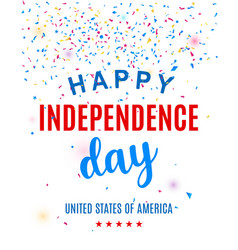 happy fourth of july greeting card template vector image