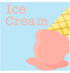 ice cream menu ice cream background image vector image