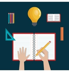 writing learning education icons school design vector image