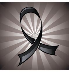 Black Ribbon Background vector image