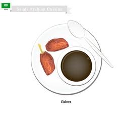 Ghava or traditional arabic coffee vector