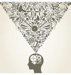 Mechanical mind vector