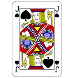 Poker playing card Jack spade vector image vector image