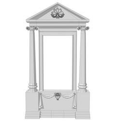 window aperture with columns vector image