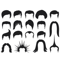 hair style set for men - hair style collection vector image vector image
