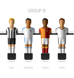 Table football foosball players Group B vector image vector image